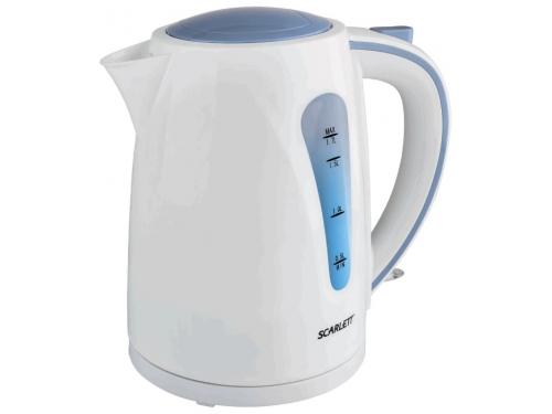 Чайник электрический Scarlett SC-EK18P14, белый/голубой, вид 1