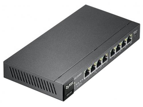 Коммутатор (switch) ZyXEL GS1100-8HP (неуправляемый), вид 1