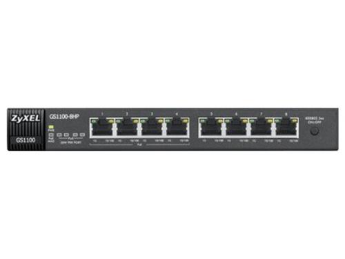 Коммутатор (switch) ZyXEL GS1100-8HP (неуправляемый), вид 3