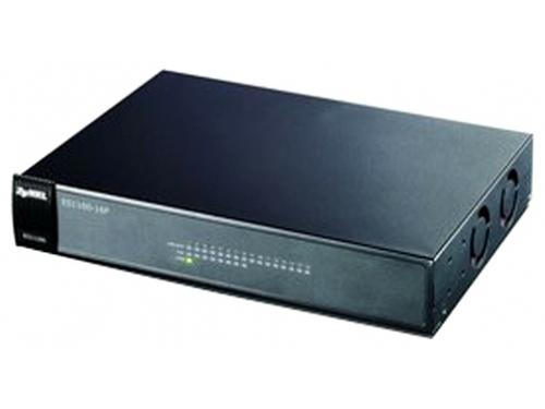 Коммутатор (switch) ZyXEL ES1100-16P (неуправляемый), вид 2