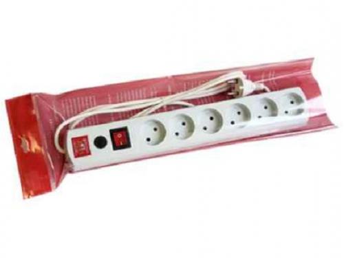 Сетевой фильтр Most LR, 1.7м, (6 розеток)  белый, вид 2
