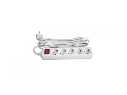 Сетевой фильтр Buro(BU-PS5.5/W)белый, вид 1