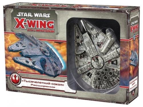 Стратегическая игра HOBBY WORLD Star Wars: X-Wing. Расширение Тысячелетний сокол, вид 1