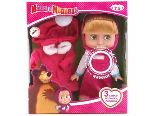 Кукла Карапуз, Маша и Медведь (с набором зимней одежды) 25 см 83033CX, вид 1