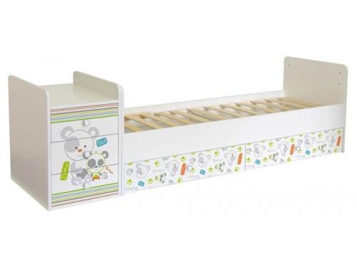 Детская кроватка Фея 1100 Панды, белая, вид 2