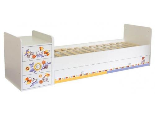 Детская кроватка Фея 1100 Прогулка, белая, вид 2