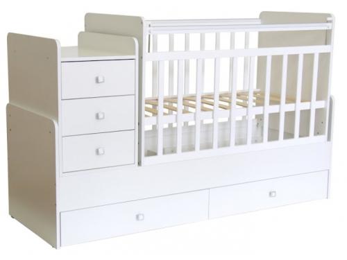 Детская кроватка Фея 1100 белая, вид 1