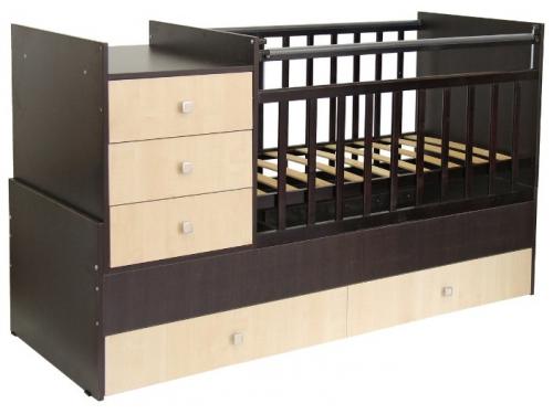 Детская кроватка Фея 1000 венге-бежевый, вид 1