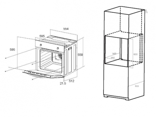 Духовой шкаф Шкаф духовой электрический MAUNFELD EOEС.586B2, вид 2
