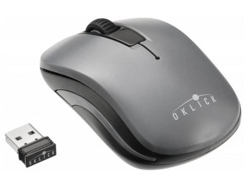 Мышь Oklick 445MW USB черная/серая, вид 1