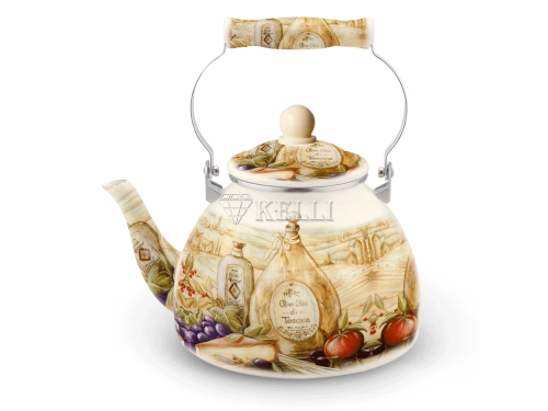 Чайник для плиты KELLI KL-4449 прованс 3л, вид 1