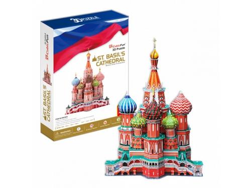 Набор игровой CubicFun  (пазл) Собор Василия Блаженного (Россия), вид 2