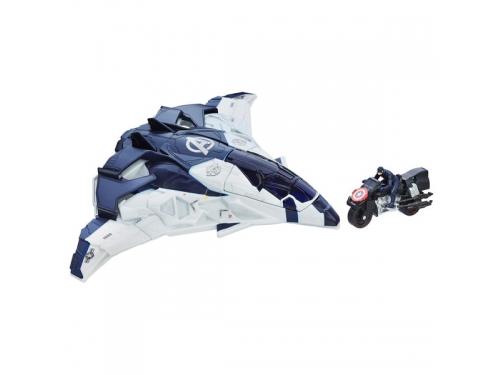 Набор игровой Hasbro Avengers, Транспортное средство Мстителей, белый / синий, вид 1