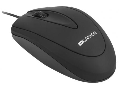 Мышка Canyon CNE-CMS1 Black USB (Optical 800 dpi), вид 1