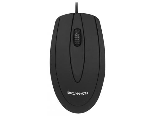Мышка Canyon CNE-CMS1 Black USB (Optical 800 dpi), вид 2