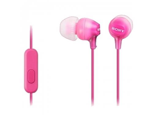 Гарнитура для телефона Sony MDR-EX15APPIC(CE7), розовая, вид 1