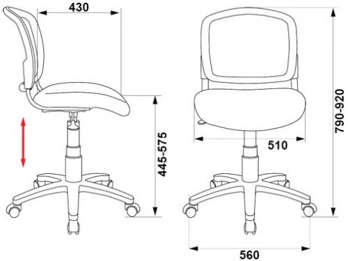 Компьютерное кресло Бюрократ(CH-296NX/TATTOO)Tattoo,черный, вид 3