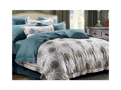 Комплект постельного белья DO&CO, сатин DELUX,  евро, нав. 50х70*2 и 70х70*2, BOGDAD, вид 1