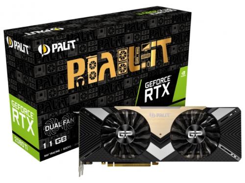 Видеокарта GeForce Palit PCI-E NV RTX 2080Ti NE6208T020LC-150A 11gb, вид 7
