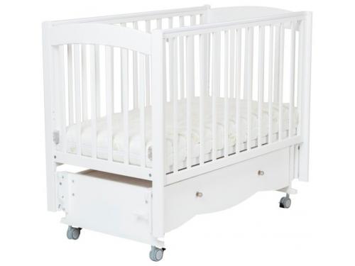 Детская кроватка Mr Sandman Pocket с ящиком, белая, вид 1