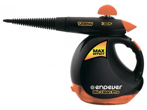 Пароочиститель-отпариватель Endever Odyssey Q-408, черный/оранжевый, вид 1