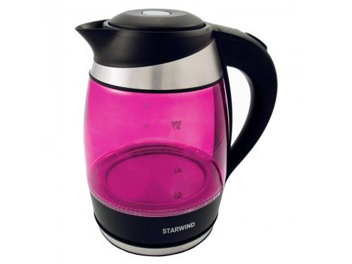 Чайник электрический Starwind SKG2214, розовый, вид 1