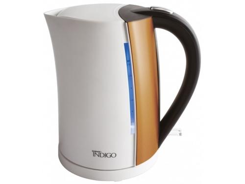 Чайник электрический Scarlett IS - EK20P01,  белый/бронзовый, вид 1