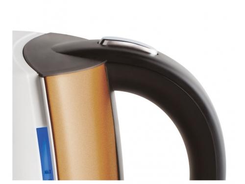 Чайник электрический Scarlett IS - EK20P01,  белый/бронзовый, вид 2