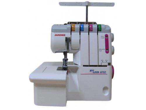 Оверлок Janome M-875D, белый, вид 2