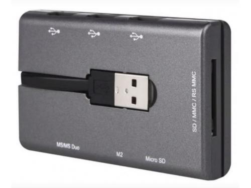 ���������� ��� ������ ���� ������ Canyon Combo CNE-CMB1 (USB2.0, SD/MMC/MS/M2, 3xUSB), ��� 1