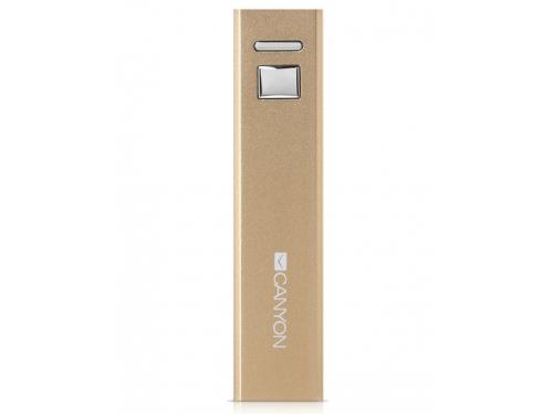 Аксессуар для телефона Мобильный аккумулятор Canyon CNE-CSPB26GO, 2600 mAh, золотистый, вид 1