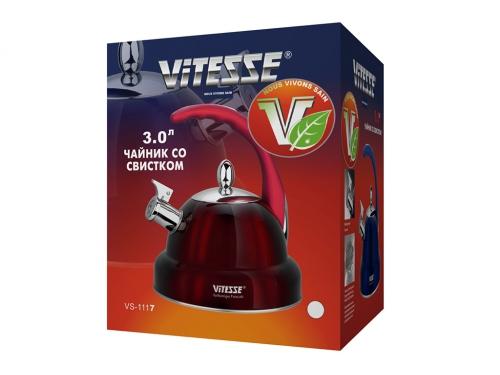 Чайник для плиты VITESSE VS-1117 (3.0 л, со свистком), вид 2