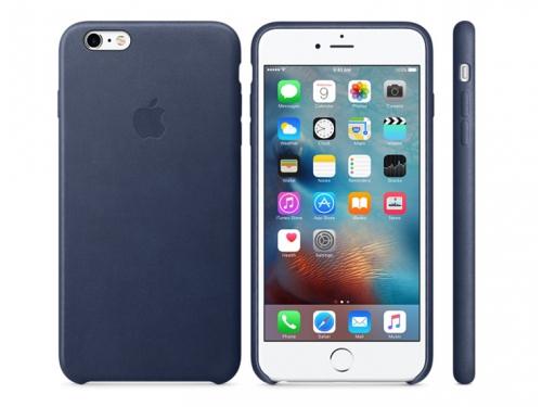 Чехол iphone Apple для Apple iPhone 6S Plus MKXD2ZM/A, темно-синий, вид 1