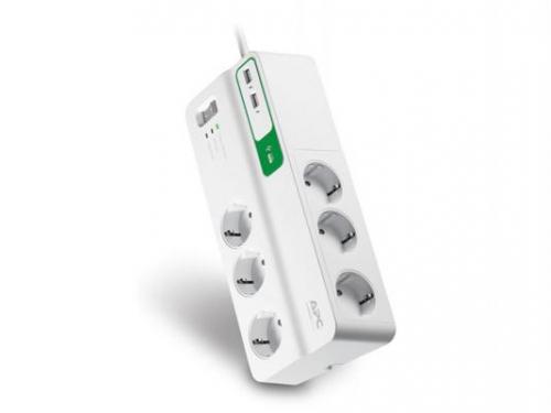 Сетевой фильтр APC PM6U-RS, 6 розеток, 2 м., белый, вид 1