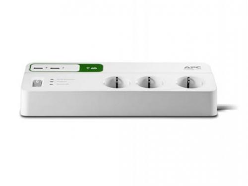 Сетевой фильтр APC PM6U-RS, 6 розеток, 2 м., белый, вид 2