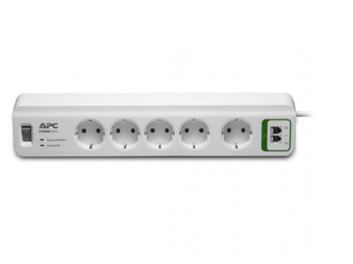 Сетевой фильтр APC PM5T - RS, белый, вид 1