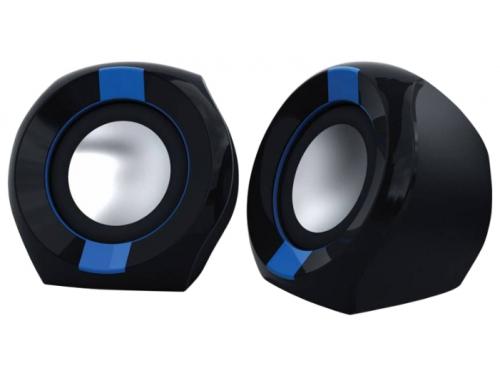 Компьютерная акустика Oklick OK-203 2.0, черные/синие, вид 1