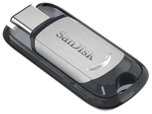 Usb-флешка SanDisk Ultra USB Type-C 128GB, черно-серебристая, вид 3