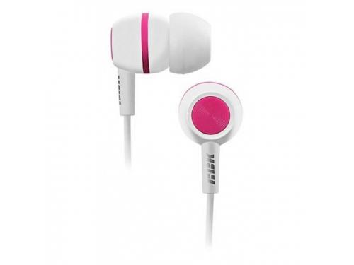 Наушники BBK EP-1230S, бело-розовые, вид 1