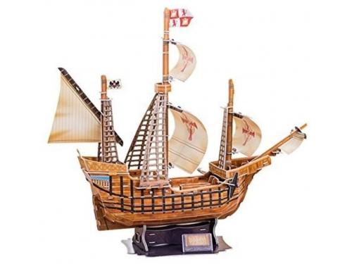 Конструктор CubicFun Корабль Санта Мария T4008h, 3D конструктор, вид 1