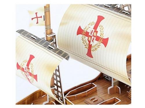 Конструктор CubicFun Корабль Санта Мария T4008h, 3D конструктор, вид 4