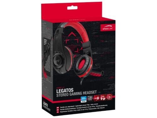 Гарнитура для пк Speedlink Legatos Stereo Gaming Headset, черная, вид 4