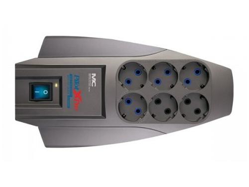 Сетевой фильтр Pilot X-Pro 7м (6 розеток)серый, вид 1