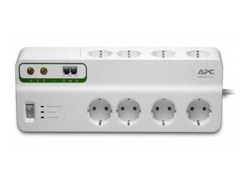 Сетевой фильтр APC PMF83VT-RS, 8 розеток, 3 м., белый, вид 1