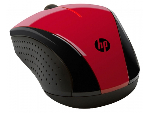 Мышка HP X3000, красная, вид 2