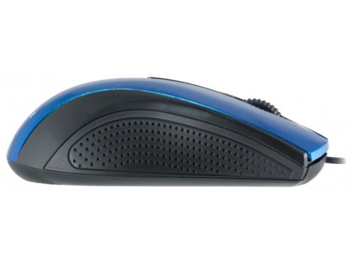Мышка Oklick 215M черная/синяя, вид 3