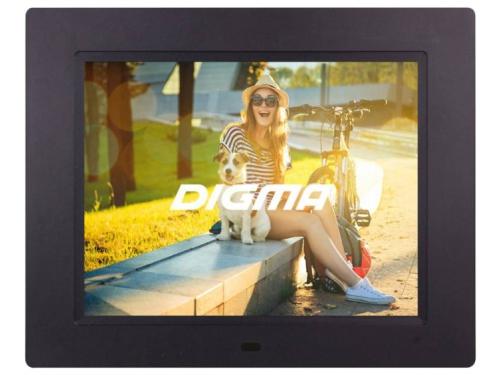 Цифровая фоторамка Digma PF-833, черная, вид 1