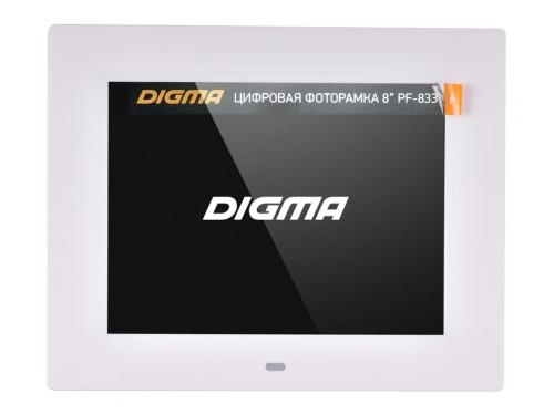Цифровая фоторамка Digma PF-833, белая, вид 1