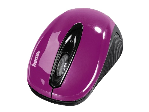 Мышка Hama AM-7300 blackberry, фиолетовая, вид 1