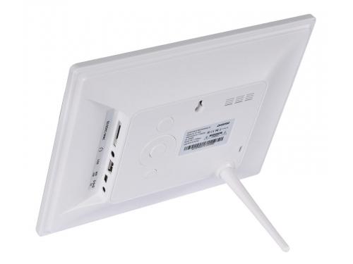 Цифровая фоторамка Digma PF-833, белая, вид 2